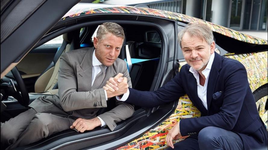 Lapo Elkann ospite di BMW con la i8 Futurism Edition