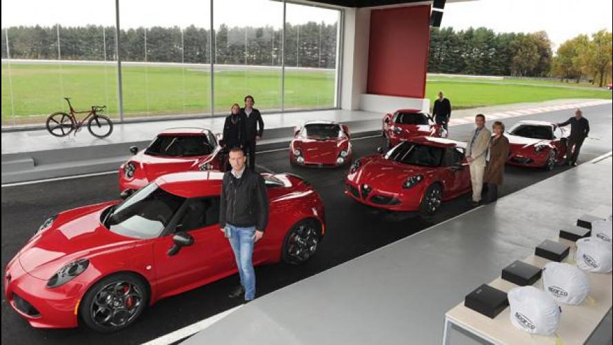 Alfa Romeo 4C Launch Edition, consegnati al Balocco i primi 5 esemplari