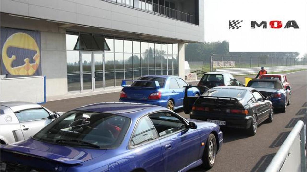 [Copertina] - Autodromo di Modena, con il MOA Ride i raduni si fanno in pista