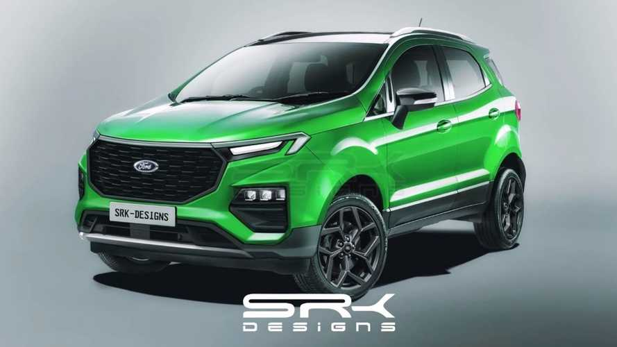 Novo Ford EcoSport: projeção mostra renovação do SUV líder de vendas na Índia