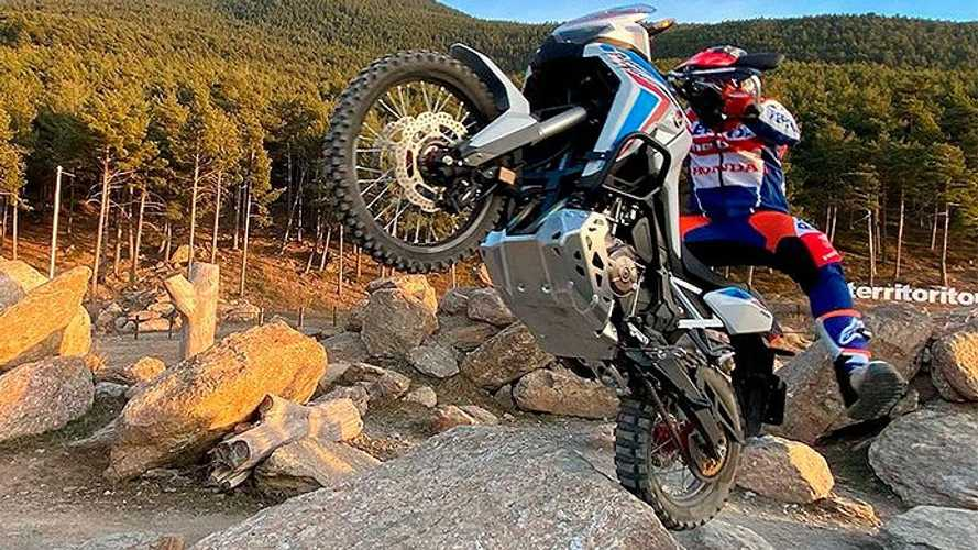 Trials Champion Toni Bou Makes Honda Africa Twin Look Like A Toy