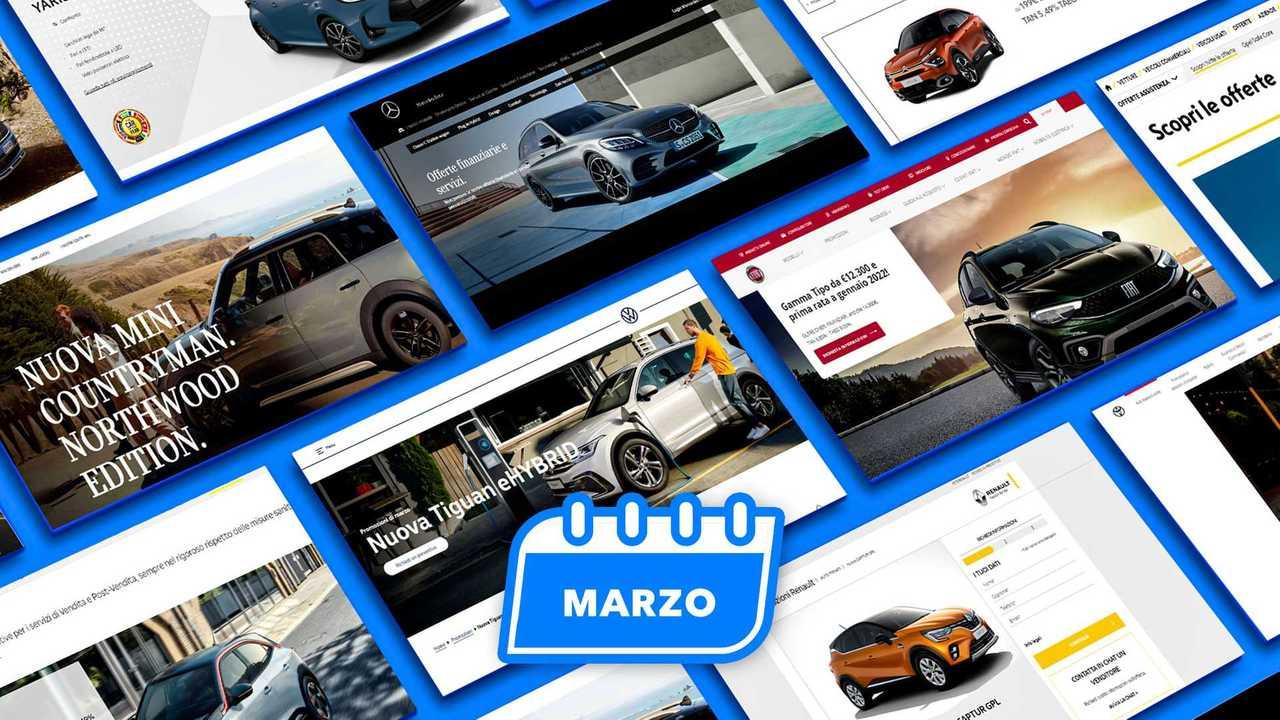 Promozioni auto, tutte le offerte di marzo 2021