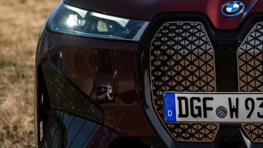 Mercedes discreetly photo bombs BMW iX photo shoot