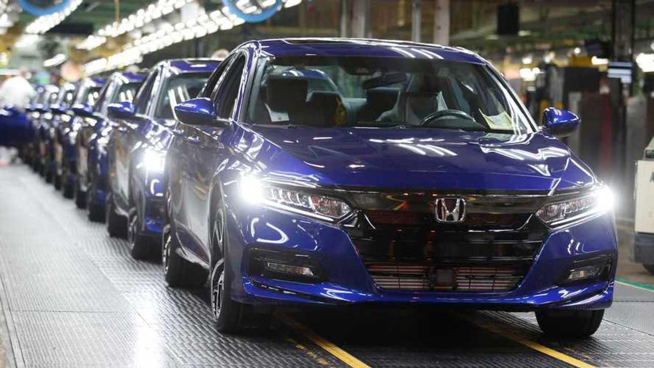 Honda halts production due to chip shortage.