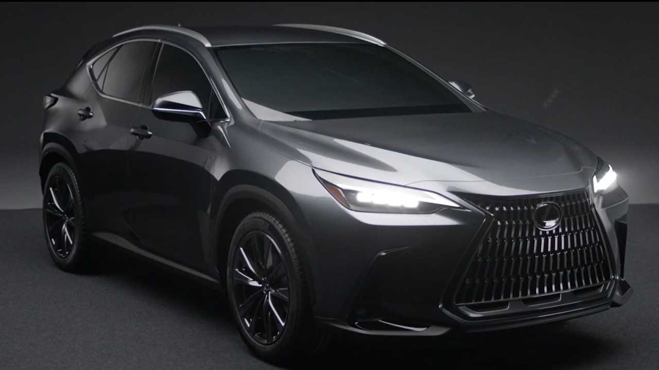 2022 Lexus NX screenshot from leaked official video