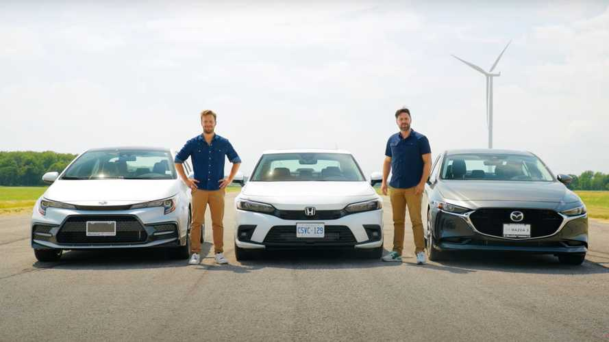 2022 Honda Civic Already Drag Raced Against Mazda3 And Corolla