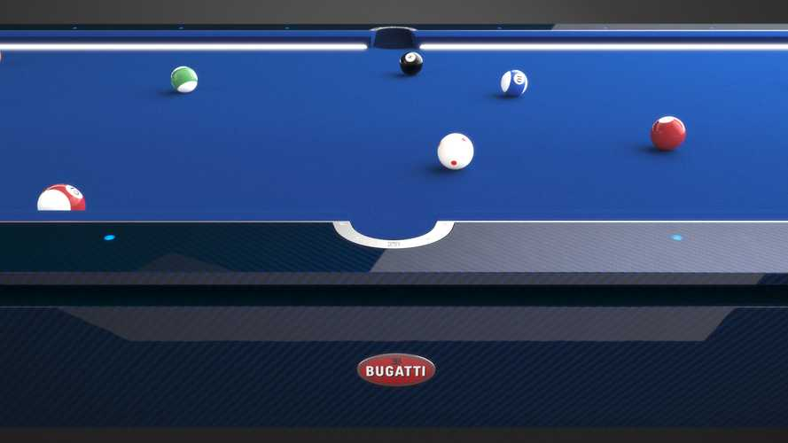 Bugatti's carbon fibre pool table Is about as impressive as its cars