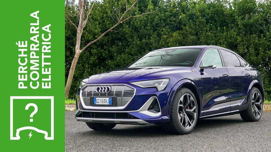 Audi e-tron Sportback S, perché comprarla elettrica e perché no