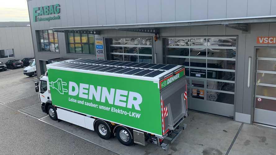 Renault da elektrikli kamyonunu güneş panelleriyle donattı