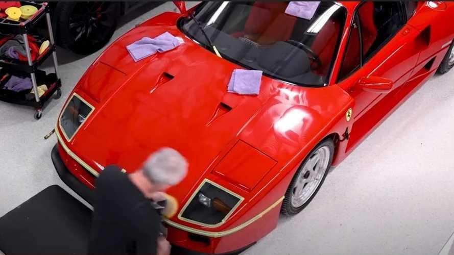 VIDÉO - L'art du detailing sur une Ferrari F40