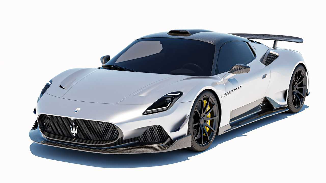 Maserati MC20 With 7 Designs Body Kit Front View