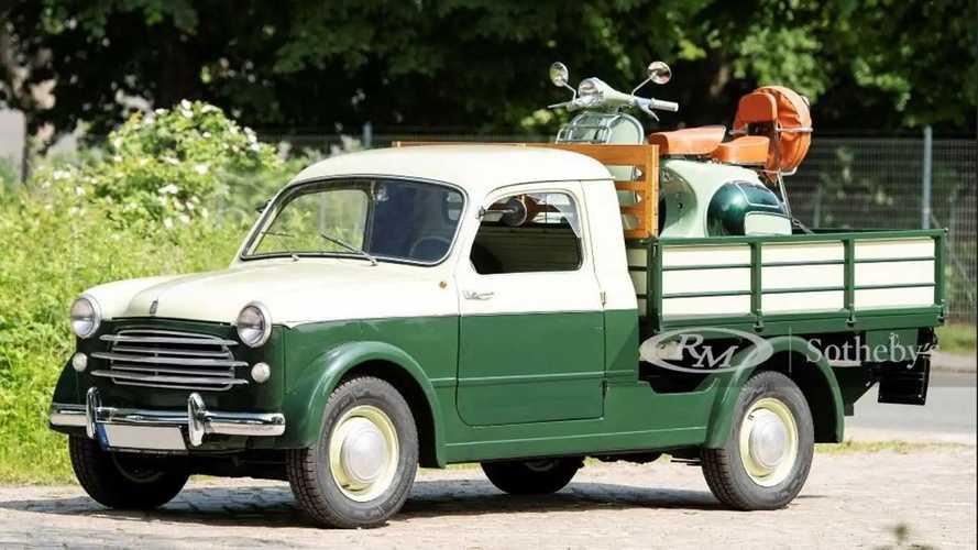 Fiat 1100/103 Camioncino, RM Sotheby's lo offre completo di Vespa