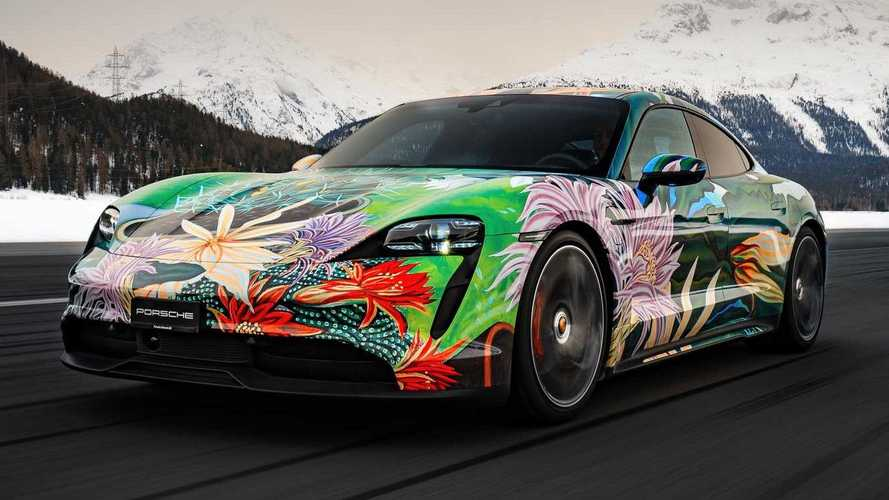 Would you drive this crazy-looking Porsche Taycan art car for sale?