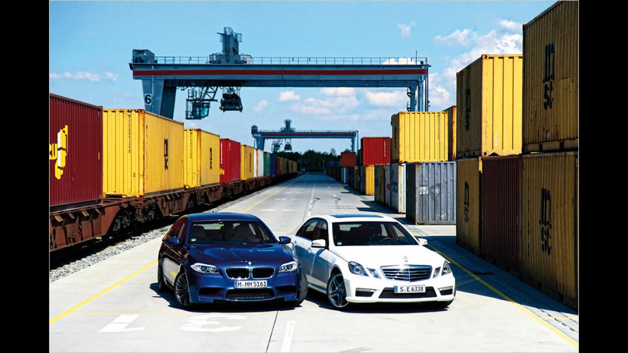 BMW M5, Mercedes E 63 AMG