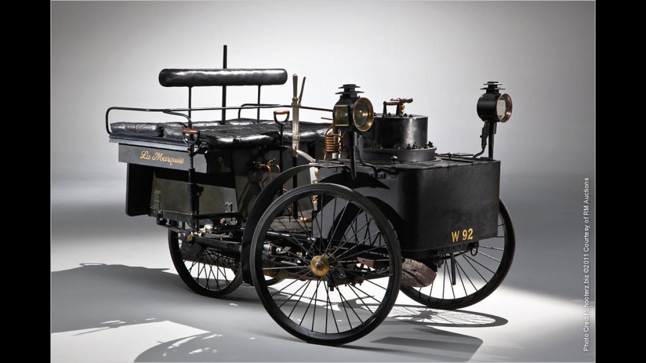 Platz 8 (2011): De Dion Bouton Dos-a-Dos mit Dampfantrieb, Baujahr 1884