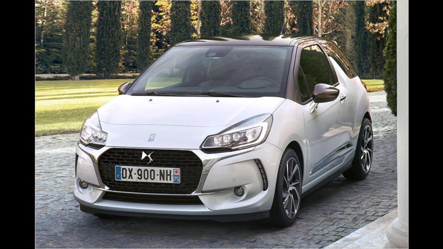 DS 3 legt den Citroën-Doppelwinkel ab