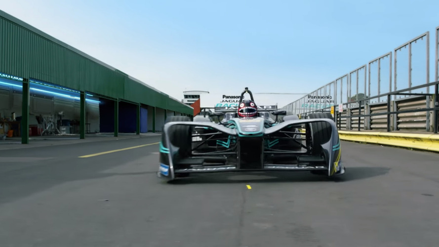 Jaguar and Gorillaz in Formula e