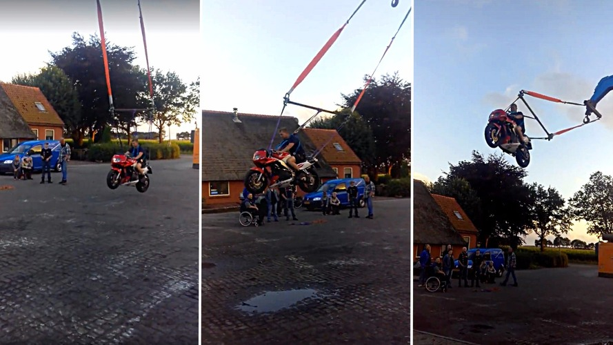 Self-propelled motorcycle swing is epic