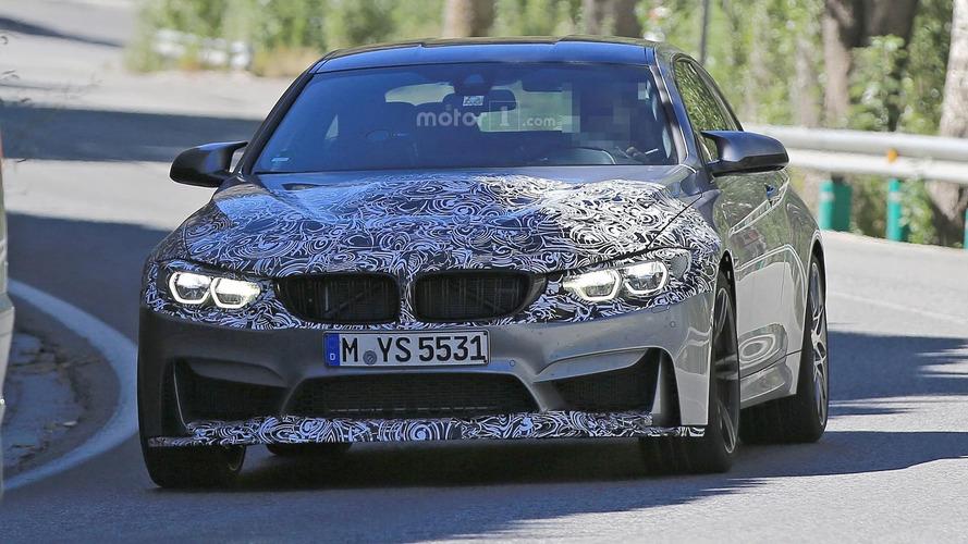 2017 BMW M4 facelift spy photos