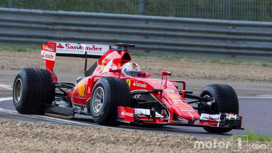 Sebastian Vettel, Ferrari tests the 2017 spec Pirelli