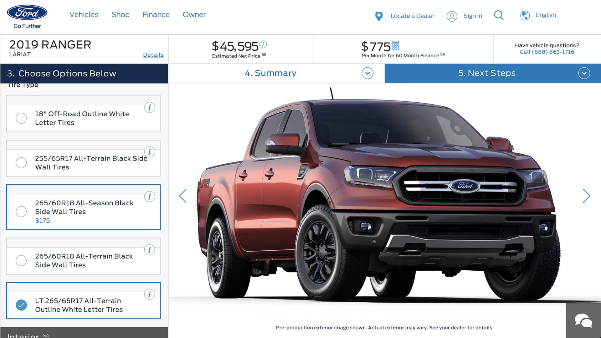 2019 ford ranger configurator secretly goes online update