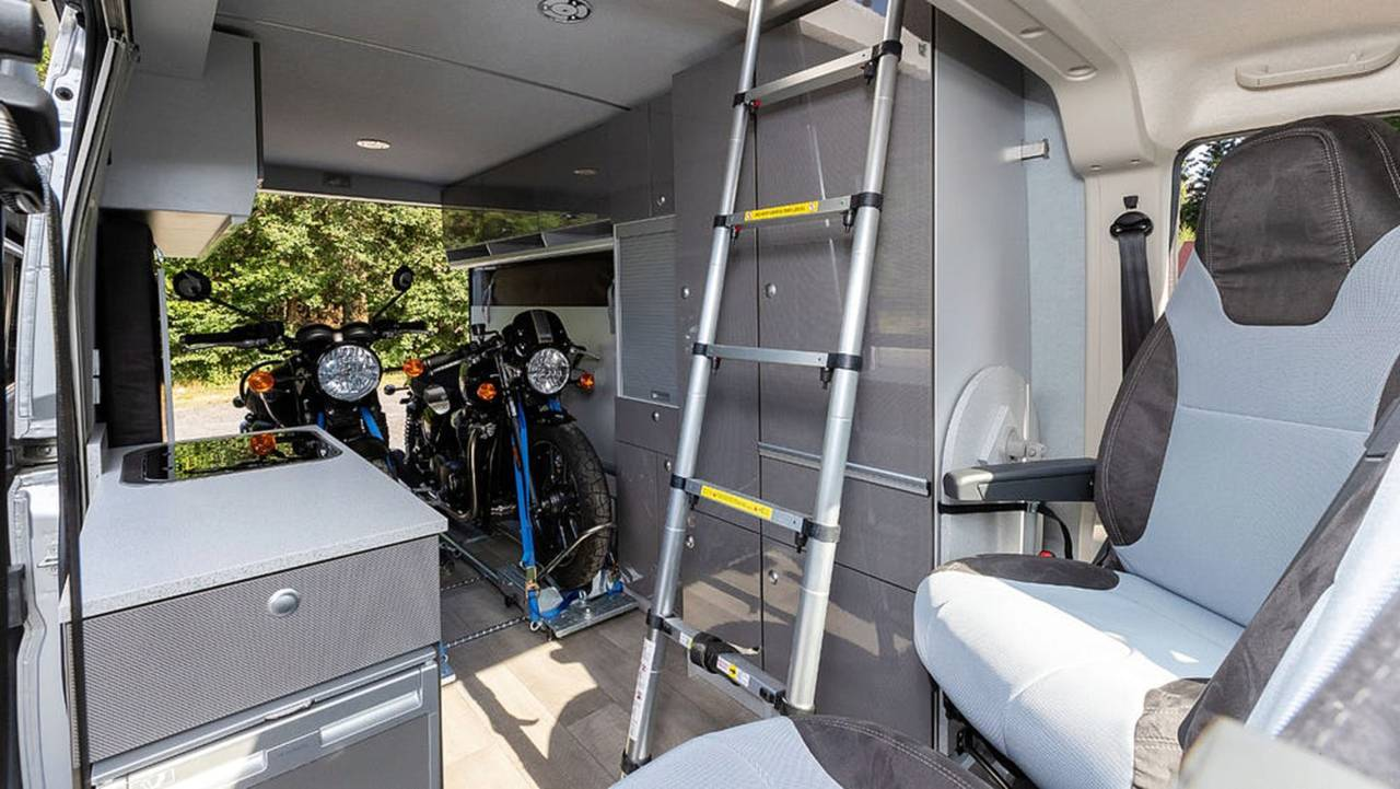 All the space plus two bikes—how awesome is that?