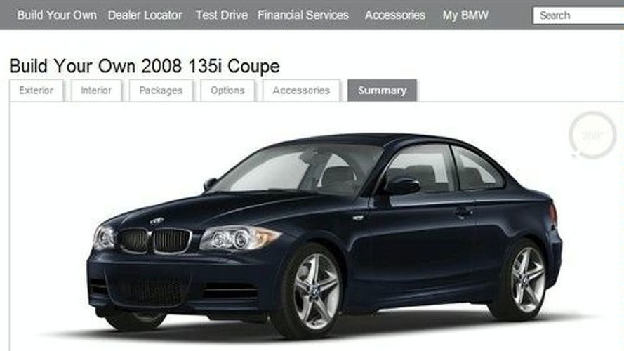 BMW 1-Series Configurator With U.S. Pricing