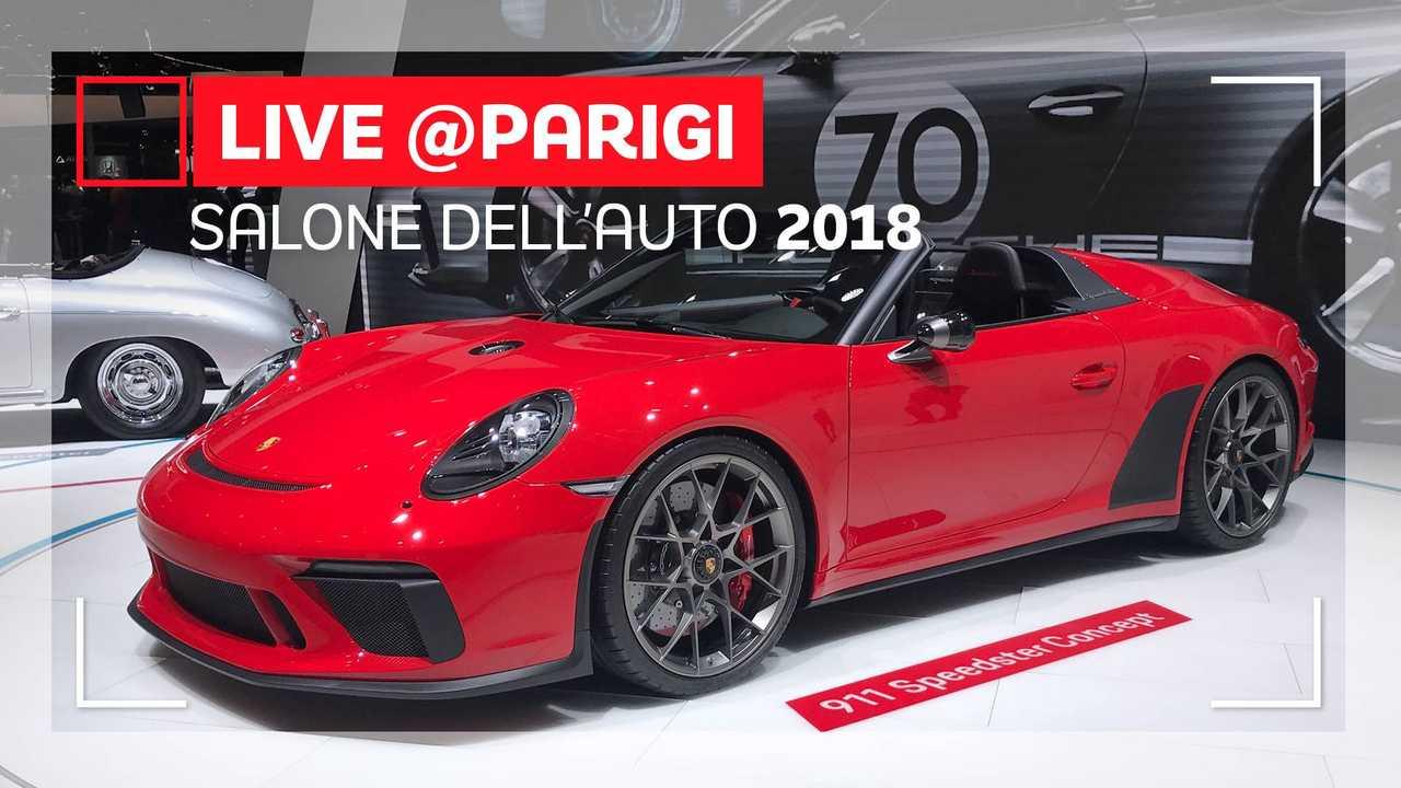 Porsche 911 Speedster Concept II al Salone di Parigi 2018
