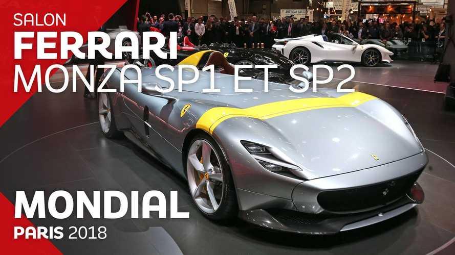 VIDÉO - Les Ferrari Monza SP1 et SP2 live au Mondial 2018