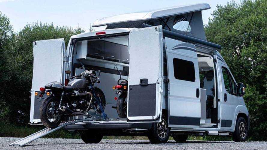 Citroen'in karavanı ile, motosikletle kamp yapmak hayal değil
