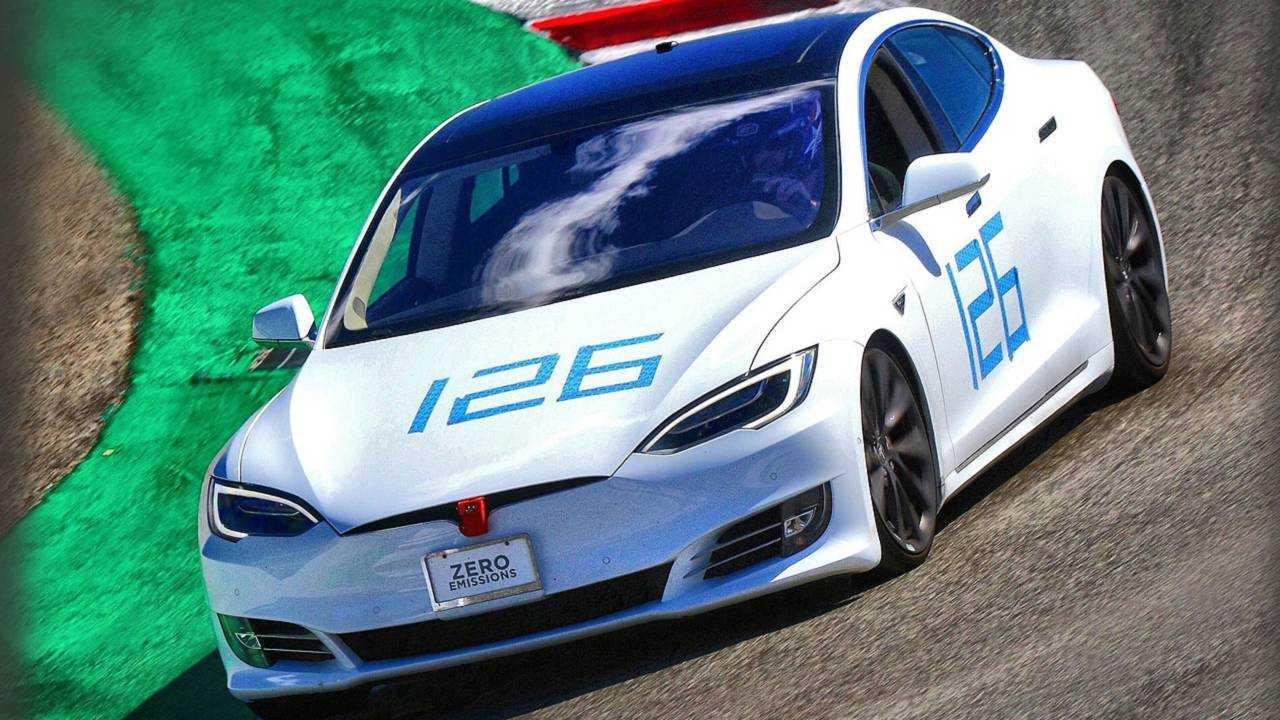 Tesla Model S at Laguna Seca circuit