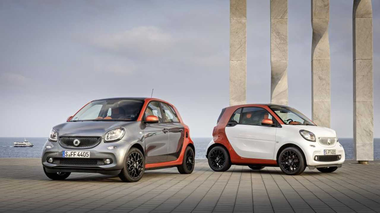 The smart ForTwo and ForFour Will Be Sold In ED Form (Electric Drive) In Late 2016 In Europe, And In ForTwo Trim Only In US At The Same Time