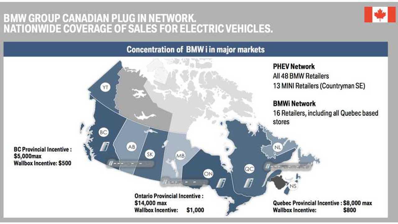 Canada BMW i3 sales