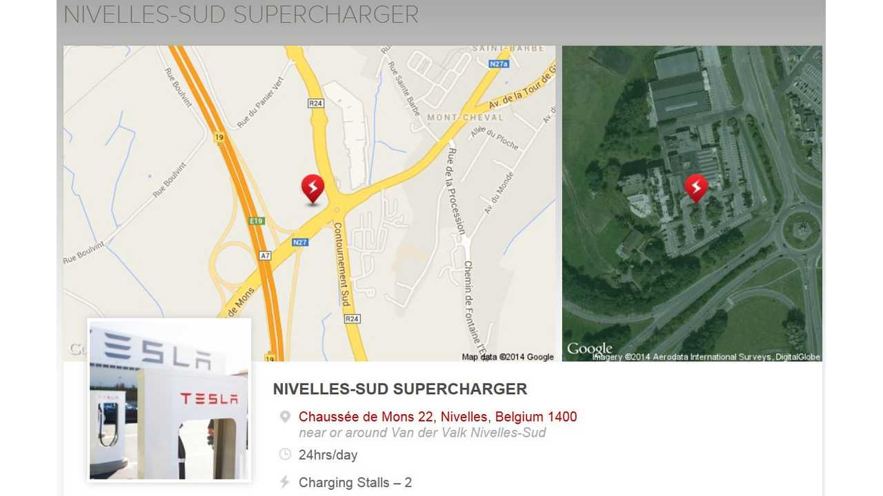 Belgium Gets Its First Tesla Supercharger