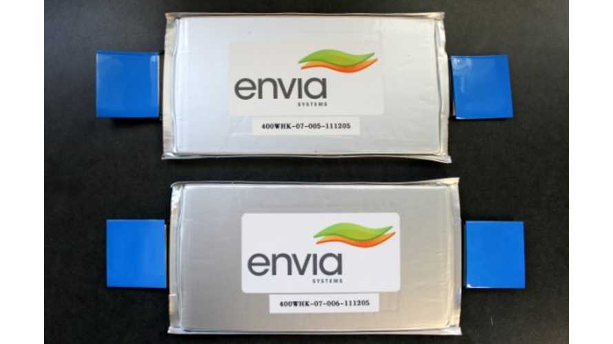 US DoE Funds 6 Lithium-Ion Battery Research Project Targeted At 200 Wh/kg - Envia Reunites With General Motors