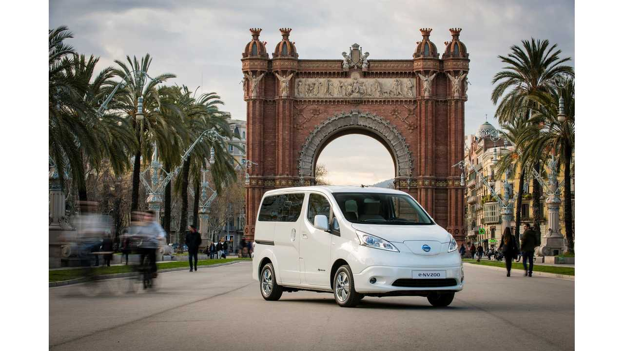 Nissan Launches 7-Seat e-NV200 In Europe