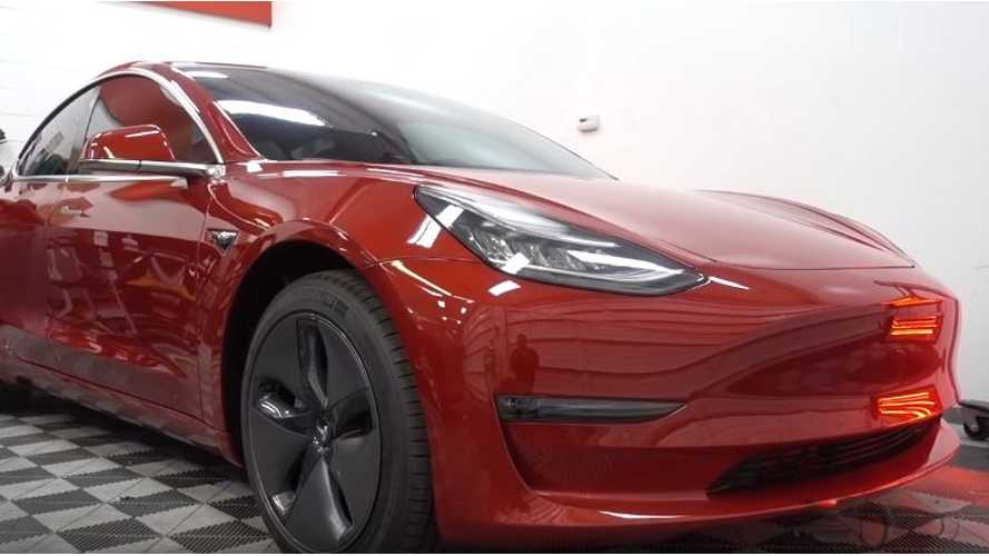 Tesla Model 3 Gets Paint Correction, Wrap, Tints & More - Video