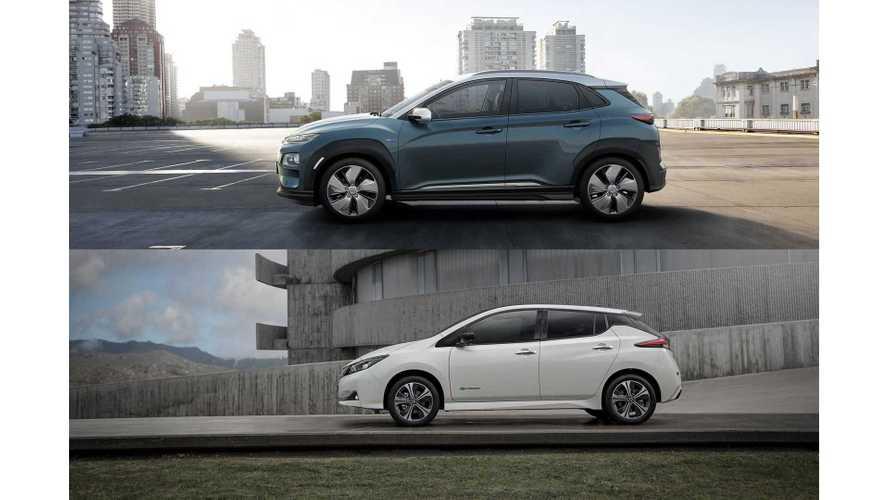 Hyundai Kona Electric Versus Nissan LEAF