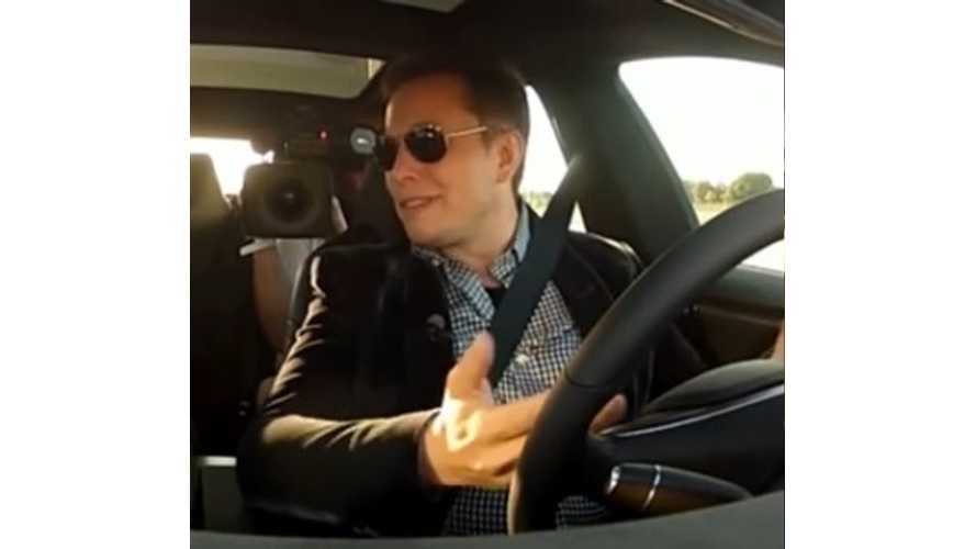 Elon Musk Takes Bloomberg For Ride In Tesla Model S P85D, Talks Legal Implications - Video
