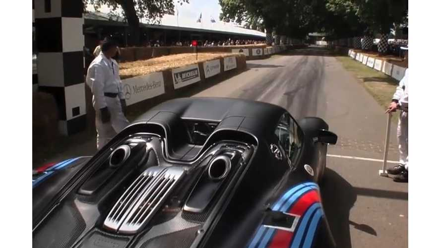 Porsche 918 Spyder, McLaren P1 At Goodwood Festival Of Speed - Videos