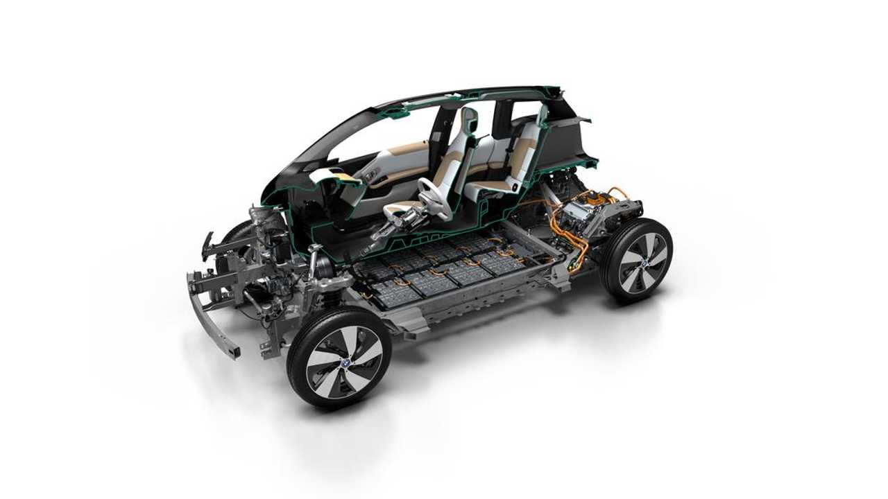 BMW i3 With New 94 Ah/33kWh Pack Cutaway