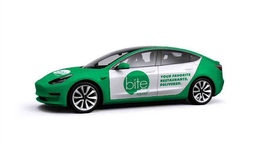 Tesla Model 3 To Become A Green Food Delivery Machine