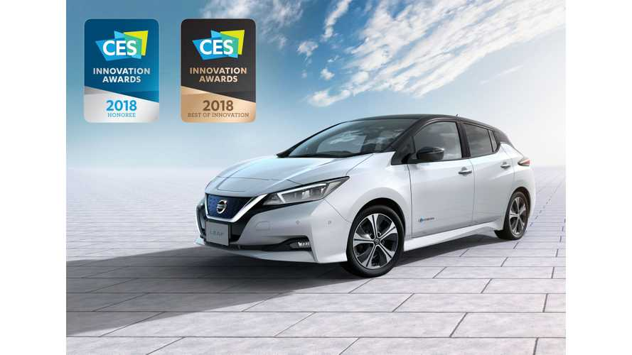 New 2018 Nissan LEAF Wins First International Award From CES