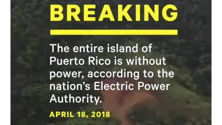 Tesla Batteries Supply Electricity To Blacked-Out Puerto Rico