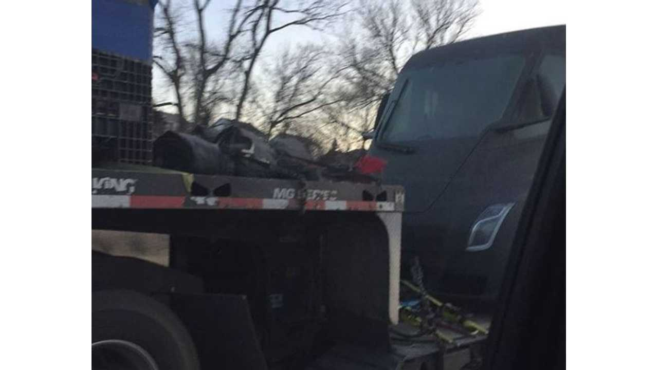 See The Tesla Semi Spotted On A Flatbed In Iowa