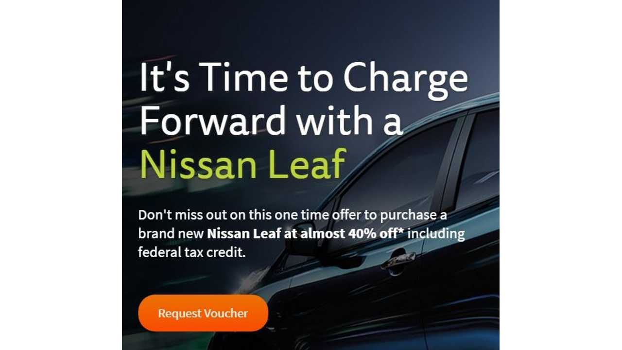 Here's How To Get 40% Off A Nissan LEAF SV In Minnesota
