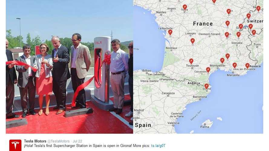 UPDATE: Tesla Opens First (& Second) Supercharger In Spain