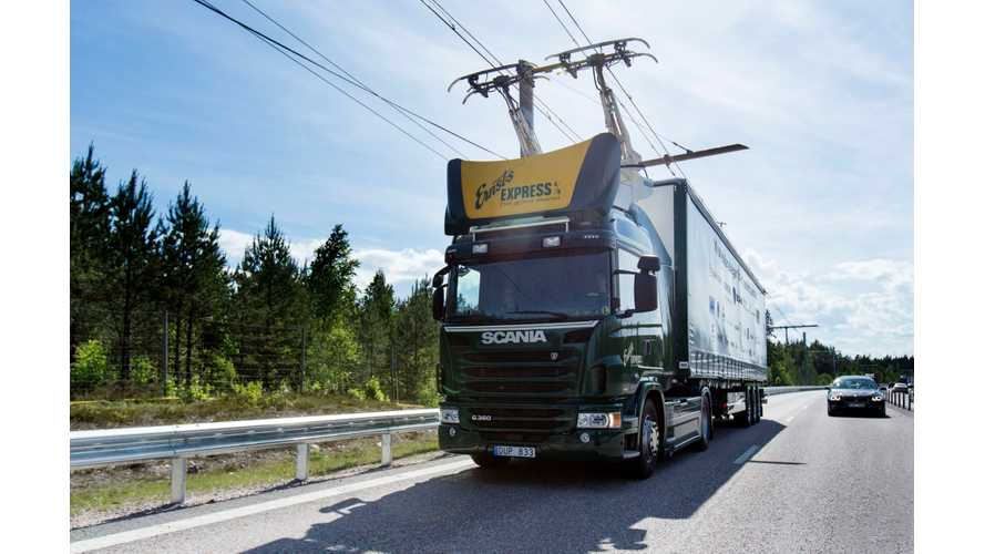 World's First Electric Road (eHighway) For Electric Trucks Opens in Sweden