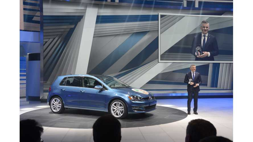 2015 Volkswagen Golf, Including E-Golf, Named North American Car Of The Year