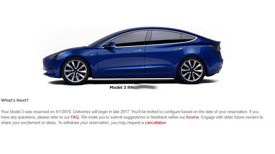 Model 3 Reservation Holders Get First Significant Update From Tesla
